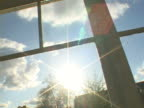 Sun Down Through Window video