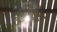 Sun Light Pass Lath Slow Motion video