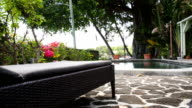 sun lounger with pool and garden in mauritius video