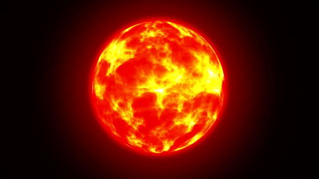 Sun on Fire HD Animation Loop video