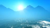 Sun over sea video