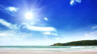 Sun over seascape video