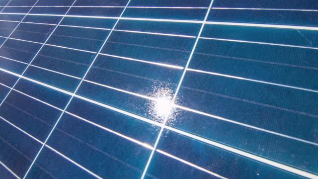 Sun Reflection on Solar Panel video