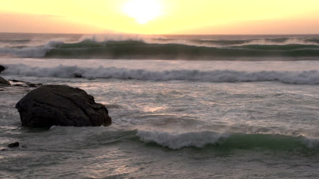Sun rising over the ocean,Cape Town video