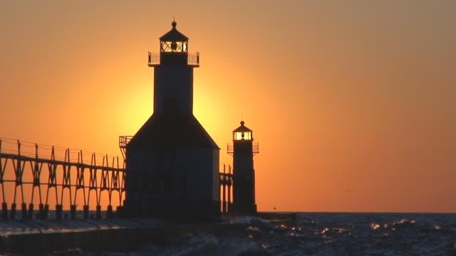 Sun Setting Behind Lighthouse Part 11 video
