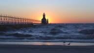 Sun Setting Behind Lighthouse Part 12 video