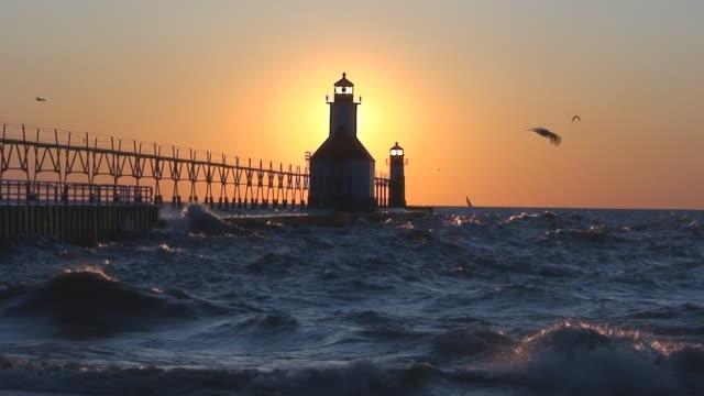 Sun Setting Behind Lighthouse Part 8 video
