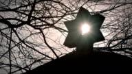 Sun Shines Through Star Of David video