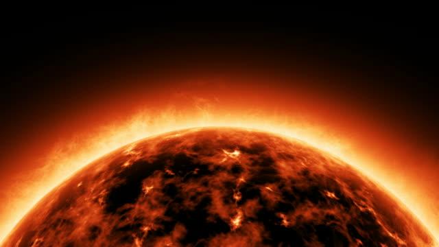 Sun solar atmosphere video
