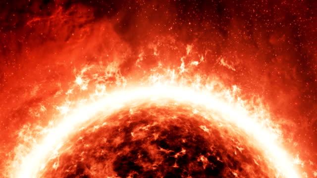 Sun surface animation. video