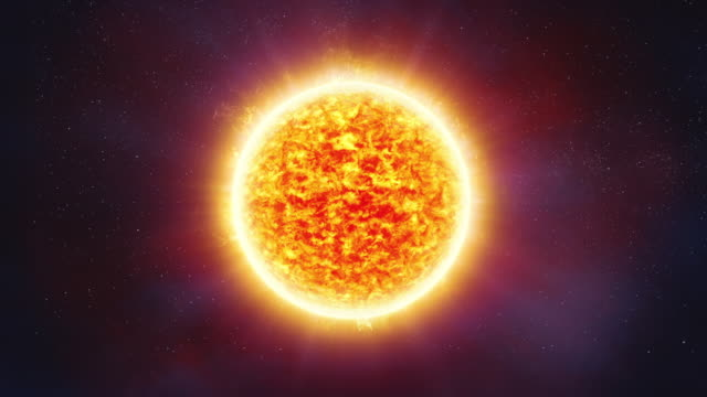 Sun Surface with Flares video