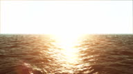 Sun touch down and sea video