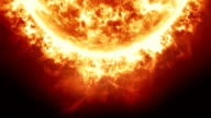 Sun with Solar Flares animation video