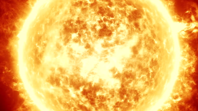 Sun with Solar Flares animation video