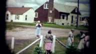 (1950s 8mm Vintage) Sunday Church Small Town America video