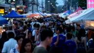 Sunday market walking street video
