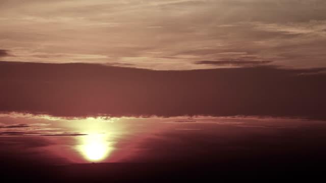 Sundown at the sea video