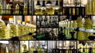Sunflower oil factory split screen video