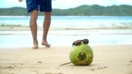 Sunglasses on coconut video