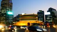 Sungneymun Gate at Seoul , Korea video