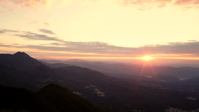 Sunlight in nord Italy mountain outdoor time lapse video HD video