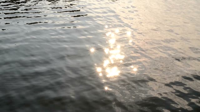 Sunlight like popping stars reflected from the lake water. video