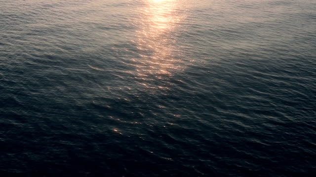 Sunlight Reflecting off Pretty Ocean video