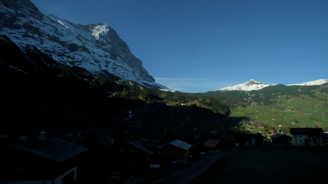 Sunlight Shining cover Grindelwald Village in the Morning video