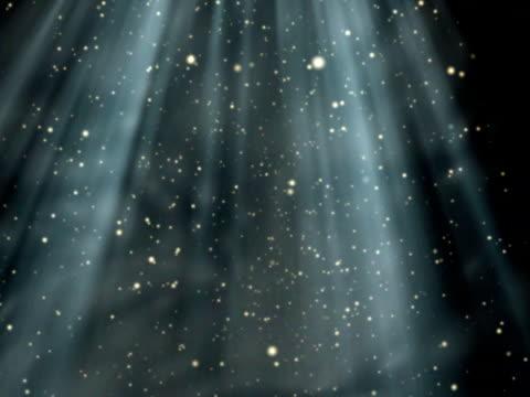 Sunlight streaks and blurred dust orbs twinkle video