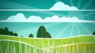 Sunny Countryside Scene Loop HD video
