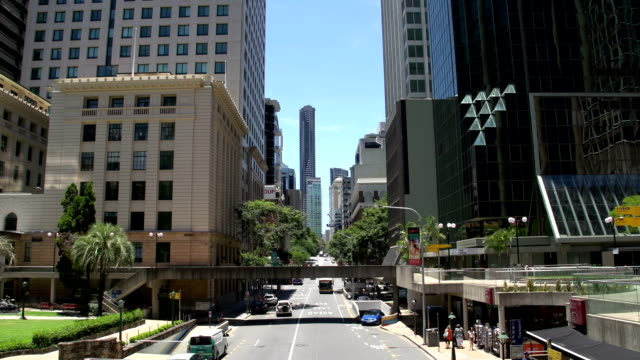 A sunny day downtown brisbane video