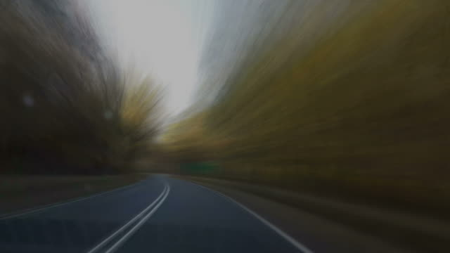 sunny day road trip car passenger panorama 4k time lapse video