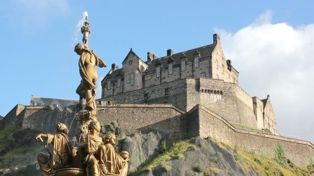 Sunny Edinburgh Castle, Close - HD & PAL video
