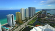 Sunny Isles Beach aerial video footage video