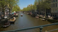 CLOSE UP: Sunny, lively, exciting, full of people Amsterdam city centre by day video