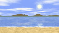 Sunny sea landscape video