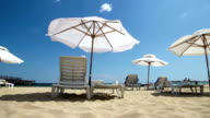 Sunny Summer Beach with Sea Breeze - Stock Footage video