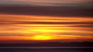 Sunrise above the sea. video