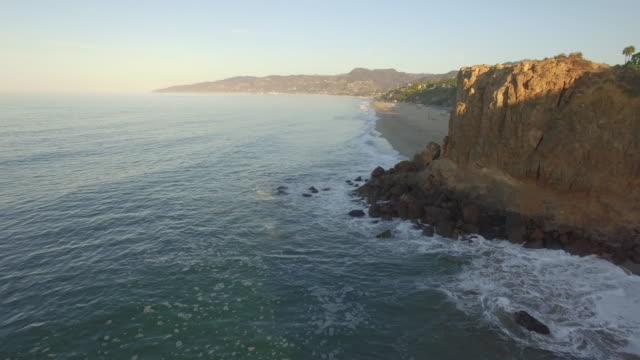 Sunrise aerial in Malibu video