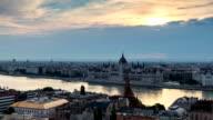 Sunrise at Budapest, Hungary, Time lapse video