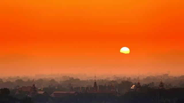 Sunrise at Chiang mai Thailand video