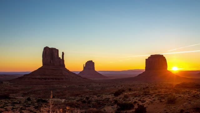 Sunrise at monument Valley video