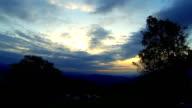 Sunrise at mountain. video