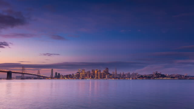 Sunrise at San Francisco Bay - Time Lapse video