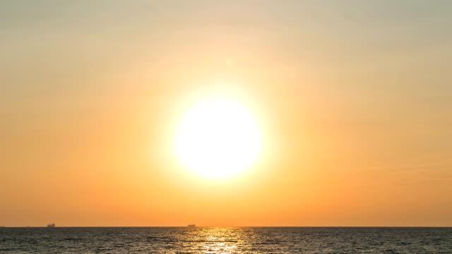 Sunrise at sea time lapse video