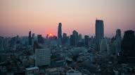 Sunrise. Bangkok city skyline. Timelapse. video