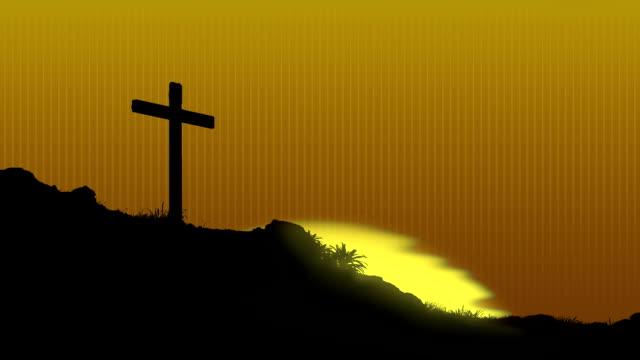 Sunrise Behind Cross video