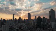 Sunrise. city skyline. Timelapse. video