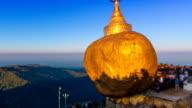 Sunrise Golden Rock Pagoda (Kyaikhtiyo Pagoda) Of Myanmar video