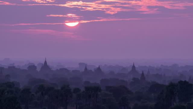 Sunrise in bagan, myanmar timelapse 4K video